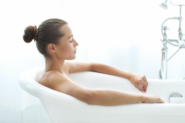 El ritual de un baño relajante: